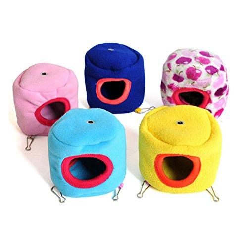 Da.Wa - Cama pequeña de hámster para jaula, cálida de algodón para invierno, para mascota pequeña, color aleatorio, 1 unidad