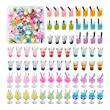 Beadthoven 72pcs 3styles Cute Fruit Juice Milk Tea Boba Charms Mini Glass Ice Cream Cup Bottle Dangle Charms DIY Pendants for DIY Keychain Earrings Jewelry Making Accessories Mixed