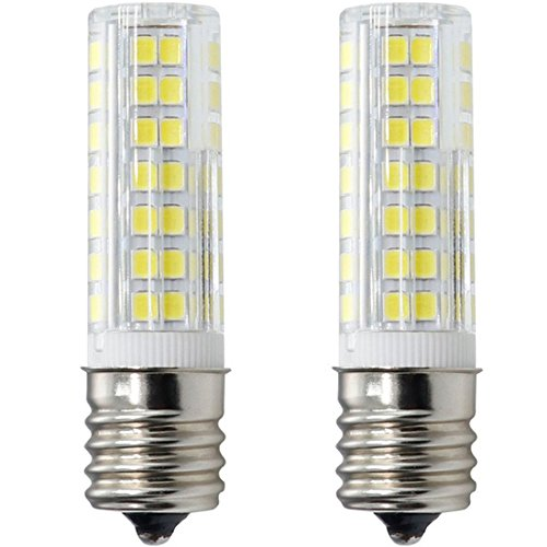 Microwave Oven Appliance 6W E17 LED Bulb (60W Halogen Bulb Equivalent) White 6000K Dimmable Ceramic Body Microwave Oven Light Bulb (2-Pack)
