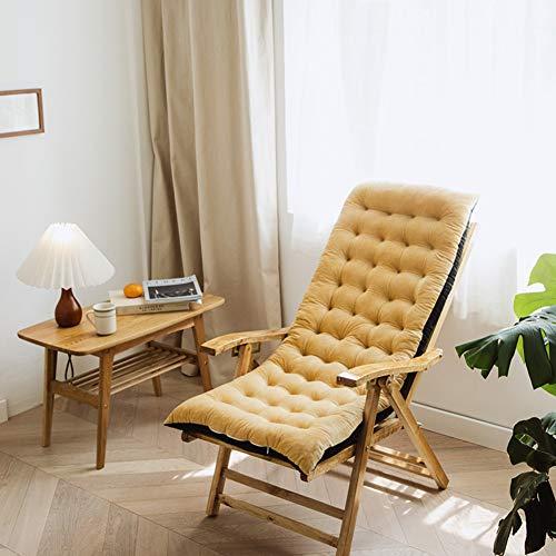 GLLSZ Gartenliege Liegestuhl Stuhlkissen Gartenstuhl Extra Groß Verdicken Liegenauflagen Indoor Outdoor,Ersatz Auflage Für Sonnenliege Sitzkissen Gelb 100x40cm(39x16inch)
