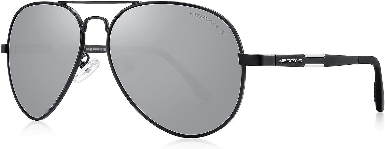 Large-scale sale MERRY'S Men HD Polarized Sunglasses Topics on TV S Aluminum Driving Magnesium