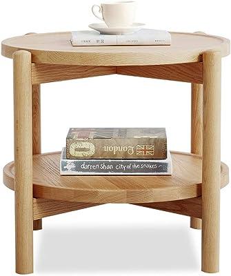 Amazon.com: Mesa auxiliar con almacenamiento de 2 niveles ...