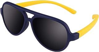 CGID Rubber Flexibel Piloot gepolariseerde gummy zonnebril voor peuters voor baby's en kinderen van 1-5 jaar, K93