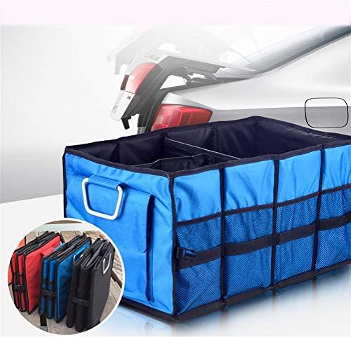 J- Organiseurs Pour Voiture Pliable Cargo Trunk Organizer Grande Capacité De Stockage Lavable Avec Poignées Boîte De Rangement Voiture (Color : Blue)
