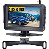 Rohent R3 HD 1080P Digital Signal Wireless Backup Camera 5'' Monitor License Plate Hitch Rear/Front View Camera Observation System for Cars,Trucks,Campers SUVs IP69 Waterproof Super Night Vision