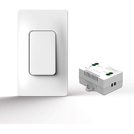 ワイヤレス リモコン コンセント配線不要 電池不要 家電リモート コントロール 家庭用電源リモートスイッチ 防水 バスルーム (1ドラッグ1)