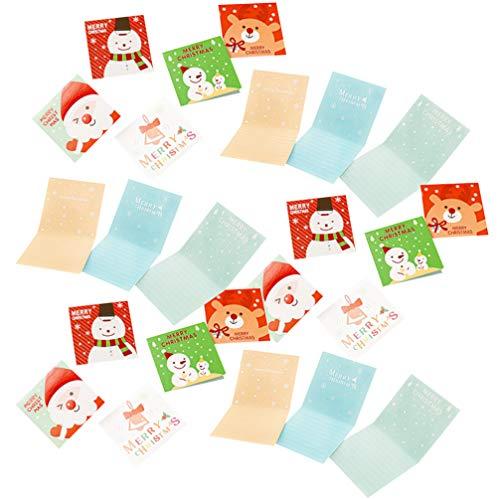 YARNOW 140Pcs Weihnachtsgrußkarten Frohe Weihnachtsgrüße Weihnachtssegenkarten Feiertagsgrußkarten für Familienfreundegeschenk-Zufallsmuster