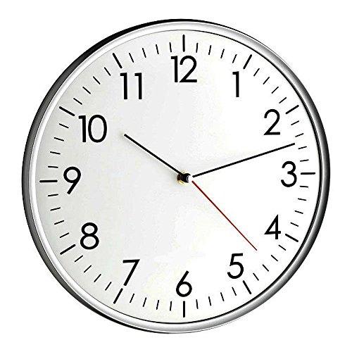 TFA Dostmann Moderne-Wanduhr Santana TFA 60.3037.10 mit leisem Sweep-Uhrwerk Analoge Quartz Uhr 330 mm