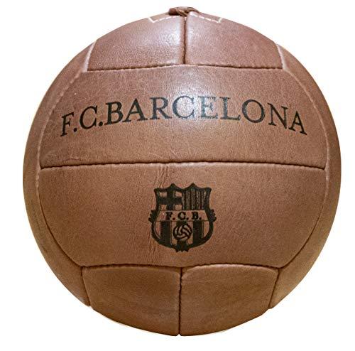 FCB Offizieller FC Barcelona Vintage-Ball, echtes Leder.