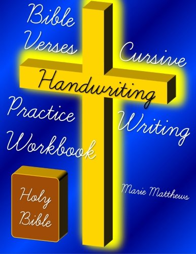 Bible Verses Cursive Handwriting Practice Writing Workbook