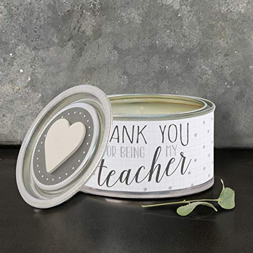 East of India Thank You For Being My Teacher Scented Candle Tin