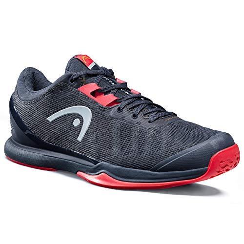 Head Sprint Pro 3.0 Men Zapatillas De Tenis, Hombres, Navy/Neon Rojo, 48.5 Eu