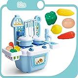 LYing Fingi di Giocare Set Giocattolo da Cucina, Early Education Educational Tableware educativo Mini Acqua Dispensable Cooktop