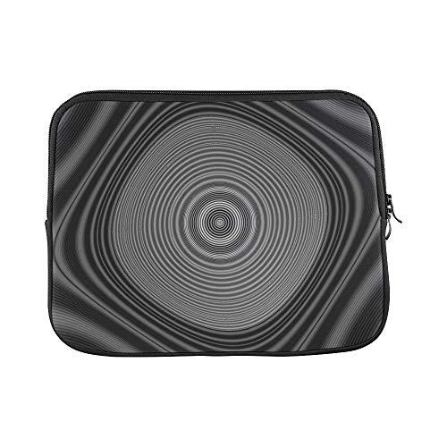Design Custom Digital Art Black White Design Target 3420393 Sleeve Soft Laptop Case Bag Pouch Skin for MacBook Air 11'(2 Sides)