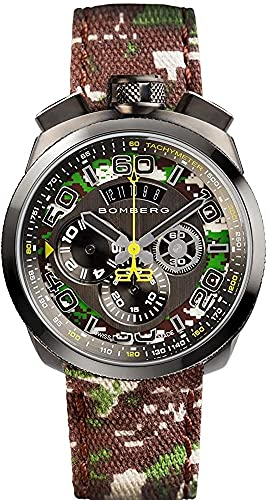 Bomberg Men's Bolt 68 45mm Cloth Band Steel Case Quartz Watch 45CHPGM.038.3