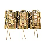 High Speed Gear MOLLE Double Decker Taco Shingle, 3 Rifle/Pistol Mag Pouches - Multicam