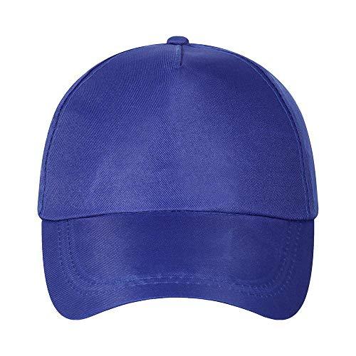 N/B Baseballmütze für die Freizeit, einfarbig, Stickerei für Werbemütze, Reisehut für Sonnenschirm adjustable blau