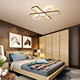 LCTCXD LED 3-testa plafoniera rettangolo, LED dimmerabili Lampadario a filo della lampada in metallo Monte soffitto, con il contro a distanza, 3000K - 6500K, for soggiorno/camera/studio, 57W