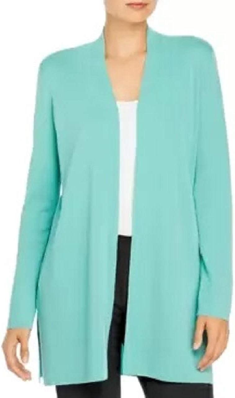 Eileen Fisher Sea Green Ultrafine Merino Wool Long Cardigan Size XL MSRP $318