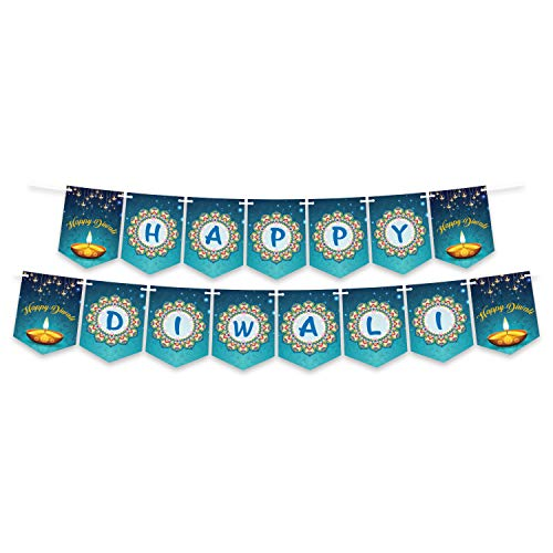 Happy Diwali Banner Decoration, Party Decoration, Diwali Decorations, Bunting Banner