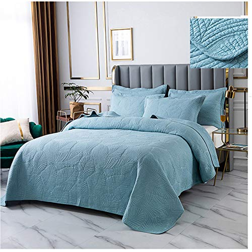 YFWJD 3-Piece King Size Quilt Set with Pillow Shams, Ultra Soft - Pre-Washed Geometric Coverlet Set – 1 Lightweight Reversible Bedspread 2 Pillow Shams,#3,230250cm