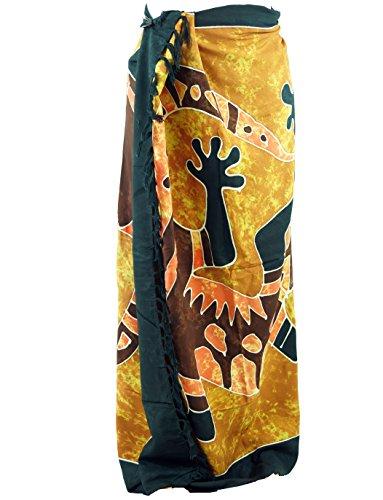 GURU SHOP Bali Sarong, Wandbehang, Wickelrock, Sarongkleid, Strand Tuch, Herren/Damen, Design 34, Synthetisch, Size:One Size, 160x100 cm, Sarongs, Strandtücher Alternative Bekleidung