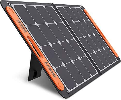 Jackery SolarSaga 100 ソーラーパネル 100W ETFE ソーラーチャージャー折りたたみ式 DC出力 DCポータブル電源充電器 USB出力 スマホやタブレット 充電可能 高変換効率 超薄型 軽量 コンパクト 単結晶 防災 IP65防水 (100W 18V 5.55A) Jackery ポータブル電源 1000/700/400用 24ヶ月保証