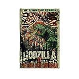 Godzilla Vintage Leinwand-Kunst-Poster und Wandkunstdruck,