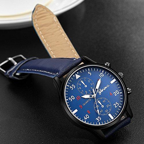 Reloj de pulsera para hombres Liusdh Relojes Scrub Esfera Reloj de aleación de cristal Leaderband Analógico Cuarzo Business Reloj de hombre