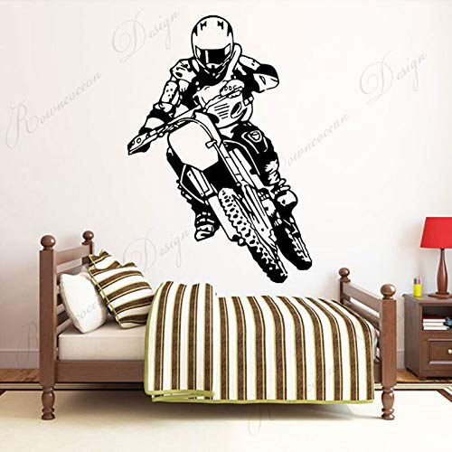 jtxqe Sports Room Dormitory For Motocross Players Home Wall Stickers Family Self-Adhesive Wall Stickers Used For Family Living Room Bedroom Decoration 57X83Cm