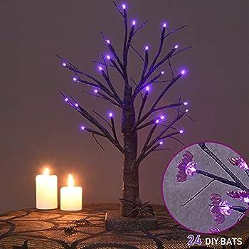 Twinkle Star 1.5 Ft 24 LED Lighted Halloween Tree