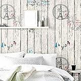LZYMLA - Papel pintado autoadhesivo impermeable de PVC, autoadhesivo, color sólido, para sala de estar, dormitorio, habitación de los niños, fondo de pared, 60 cm, grano de madera
