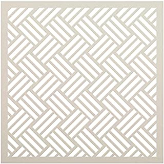 Hopsack Weave Stencil by StudioR12 | Woven Repeat Pattern Stencils for Painting | Reusable Mixed Media Template | Select S...