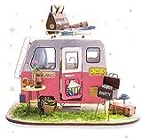 Rolife 3D Dollhouse Kit con Muebles de Madera Handcraft House Model Miniatura DIY Rompecabezas-Tops Juguetes para niños-Mejores Regalos para Aults(Happy Camper)
