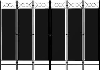 vidaXL Cloison de Séparation 6 Panneaux Séparateur de Pièce Diviseur Ecran d'Intimité Paravent Chambre à Coucher Maison In...