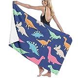 Yuanmeiju Toalla de baño Beach Towels Funny Dinosaur Bath Towels For Teen Girls Adults Travel Towel Washcloth 31x51 Inches