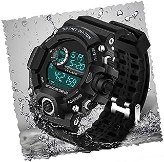 Acnos Digital Watch Shockproof Multi-Functional Automatic Black Color Strap Waterproof Digital Sports Watch for Men's Kids...