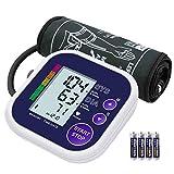 Tensiomètre Bras Électronique, Grand Écran LCD, Détection de la tension artérielle et de la Fréquence Cardiaque, Measure Automatique avec Brassard Ajustable