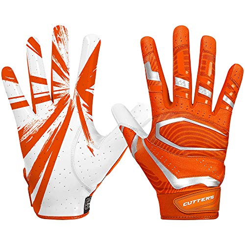 Cutters Gloves S452 Rev Pro 3.0 Football Receiver Handschuhe Design 2018 - orange Gr. XL