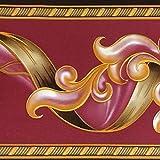 Dundee Deco BD3204 - Rotolo di carta da parati astratta damascata, motivo retrò, 10 x 10 cm, autoadesivo, 10 m x 10 cm