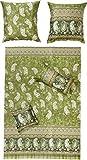 Bassetti ANACAPRI Bettwäsche, Satin, grün, 135x200