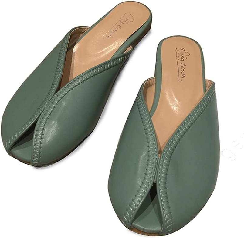 HOTRA Baotou We OFFer at cheap prices Half Slippers Ladies Max 74% OFF Flat-Sole Mouth Fish Sandals