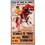 Cartel taurino'Mitos Linares' - corrida de la muerte de Manolete- Medidas de 53 cm x 97 cm y papel de 80 gms