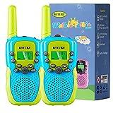 BATURU Kids Walkie Talkies Boys 2 Pack, 3 Miles Long Range Two Way Radio for Outdoor Camping Game, Boys Toys Age 5 6 7 8 9 10 Gift