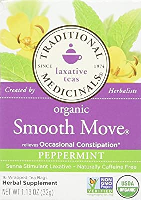 Traditional Medicinals Organic Smooth Move Peppermint Herbal Tea - 16 Tea Bags (Pack of 2) by Traditional Medicinals