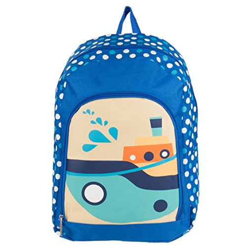Price comparison product image Nylon Hybrid Kids Play Backpack School Bag Fits DBPOWER Portable DVD Players (Boats)
