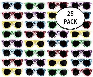 Bulk Kids Hibiscus Sunglasses Party Favors - Favorite Luau Party and Pool Party Favors- Bulk Party Set of 25