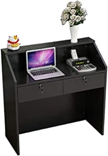Lzcaure Bureau de Réception Commodité Petit supermarché Caisse enregistreuse Stand comptoir avec tiroir Coiffeur comptoir ...