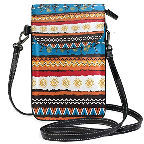 ZZKKO Ägyptische Mini-Umhängetasche, Handtasche, Handtasche, Leder, für Damen, lässig, Reisen, Wandern, Camping