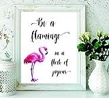 signatives Flamingo Wall Print - Wall Art - Wall...